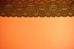Disposizione d'annata del pizzo di Brown Fotografia Stock