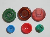 Disposizione dei bottoni per gli insiemi dell'abbigliamento Immagini Stock Libere da Diritti