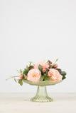 Disposizione dei fiori di Rosa con lo spazio della copia Fotografia Stock