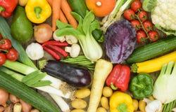 Disposizione dei frutti della verdura fresca Fotografia Stock