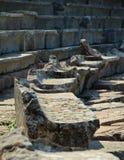 Disposizione dei posti a sedere al teatro di Epidauros, Grecia Immagini Stock Libere da Diritti