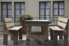 Disposizione dei posti a sedere del patio fotografia stock