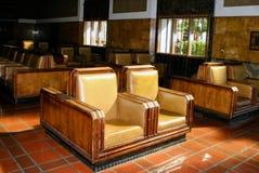 Disposizione dei posti a sedere del viaggiatore della stazione del sindacato Immagini Stock Libere da Diritti