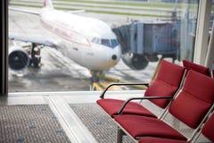 Disposizione dei posti a sedere dell'aeroporto Immagine Stock