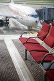 Disposizione dei posti a sedere dell'aeroporto Immagine Stock Libera da Diritti