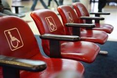 Disposizione dei posti a sedere dell'aeroporto di handicap immagini stock libere da diritti
