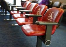 Disposizione dei posti a sedere dell'aeroporto di handicap immagini stock