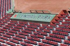 Disposizione dei posti a sedere della sosta di Fenway Fotografia Stock Libera da Diritti