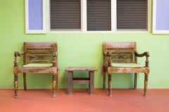 Disposizione dei posti a sedere esterna Immagine Stock