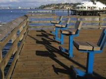 Disposizione dei posti a sedere per i pescatori fotografia stock