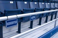 Disposizione dei posti a sedere riservata Immagine Stock