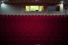 Disposizione dei posti a sedere vuota del teatro Fotografia Stock Libera da Diritti