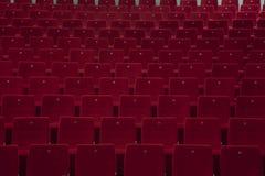 Disposizione dei posti a sedere vuota del teatro Immagini Stock