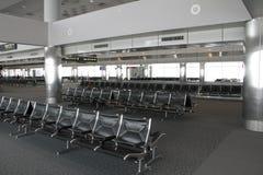 Disposizione dei posti a sedere vuota dell'aeroporto Fotografia Stock Libera da Diritti