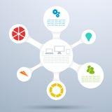 Disposizione 2 del diagramma del cerchio 3d Infographic Fotografia Stock
