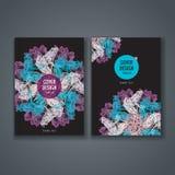 Disposizione del modello dell'opuscolo, progettazione della copertura del rapporto annuale, libro, rivista Fotografie Stock