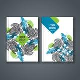 Disposizione del modello dell'opuscolo, progettazione della copertura del rapporto annuale, libro, rivista Immagini Stock