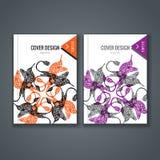 Disposizione del modello dell'opuscolo, progettazione della copertura del rapporto annuale, libro, rivista Fotografie Stock Libere da Diritti