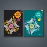 Disposizione del modello dell'opuscolo, progettazione della copertura del rapporto annuale, libro, rivista Immagini Stock Libere da Diritti