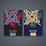 Disposizione del modello dell'opuscolo, progettazione della copertura del rapporto annuale, libro, rivista Fotografia Stock