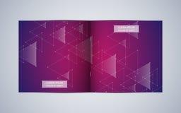 Disposizione del modello dell'opuscolo del quadrato del popolare della Bi, copertura, rapporto annuale Fondo astratto geometrico  Immagine Stock