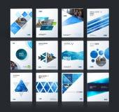 Disposizione del modello dell'opuscolo, rapporto annuale di progettazione della copertura, rivista, fotografia stock