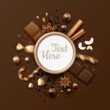 Disposizione del piano del cioccolato royalty illustrazione gratis