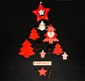Disposizione del piano dell'ornamento dell'albero di Natale Immagine Stock