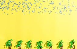 Disposizione del piano delle palme e delle stelle Immagine Stock