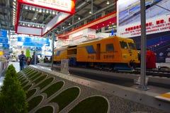 Disposizione del treno ad alta velocità Fotografia Stock