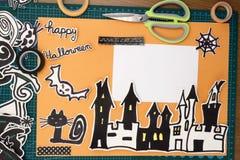Disposizione dell'album per ritagli di Halloween Immagini Stock Libere da Diritti
