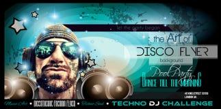 Disposizione dell'aletta di filatoio del night-club della discoteca con forma del DJ Immagine Stock Libera da Diritti