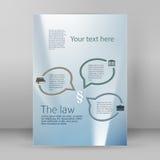 Disposizione dell'opuscolo del modello A4 dell'aletta di filatoio di legge di stile di affari Immagini Stock
