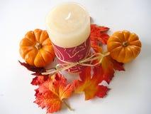 Disposizione della candela di autunno Fotografia Stock