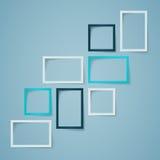 Disposizione della casella di testo di Infographic con le ombre Fotografia Stock