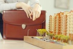 Disposizione della costruzione di appartamento Fotografia Stock