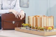 Disposizione della costruzione di appartamento Immagine Stock