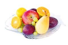 Disposizione della frutta fresca Fotografia Stock