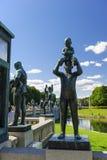 Disposizione della scultura di Vigeland, parco di Frogner, Oslo, Norvegia Immagini Stock Libere da Diritti