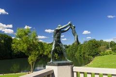 Disposizione della scultura di Vigeland, parco di Frogner, Oslo, Norvegia Fotografia Stock Libera da Diritti