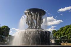 Disposizione della scultura di Vigeland, parco di Frogner, Oslo, Norvegia Immagine Stock Libera da Diritti