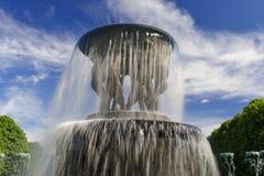 Disposizione della scultura di Vigeland, parco di Frogner, Oslo, Norvegia Fotografie Stock