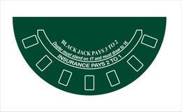 Disposizione della tabella del black jack Fotografia Stock