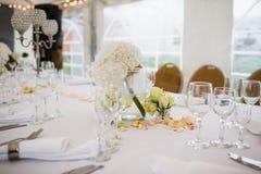 Disposizione della Tabella di nozze Fotografie Stock