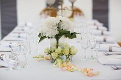 Disposizione della Tabella di nozze Fotografia Stock Libera da Diritti