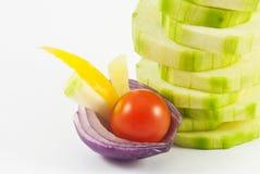 Disposizione della verdura Fotografie Stock