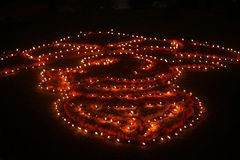 Disposizione delle lampade di Diwali fotografia stock libera da diritti