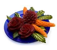 Disposizione delle verdure - intagliando Immagini Stock Libere da Diritti