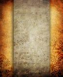 Disposizione di carta di Grunge con il reticolo floreale Immagine Stock