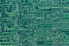 Disposizione di circuito elettrico Fotografia Stock